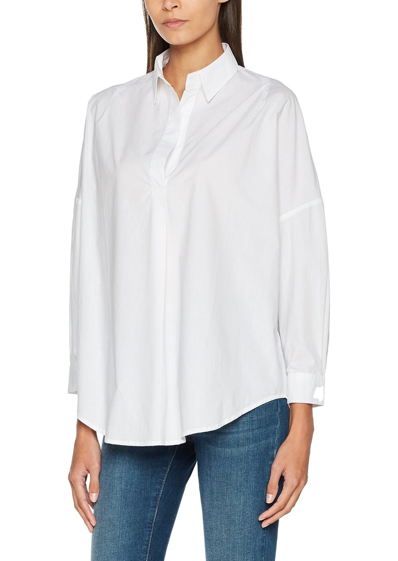 French Connection Women's Rhodes Polin Light Weight Long Sleeve Oversized Blouse  L