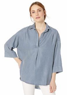 French Connection Women's Rhodes Poplin Light Weight Long Sleeve Oversized Shirt  L