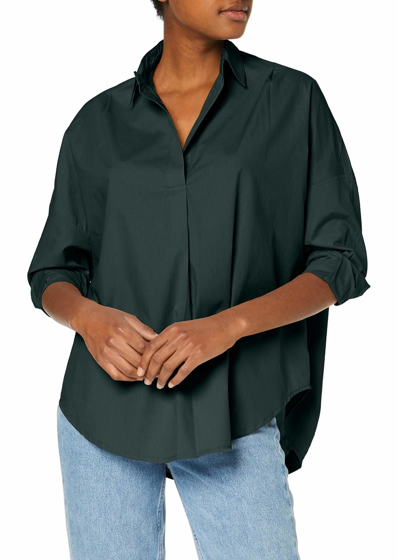 French Connection Women's Rhodes Poplin Relaxed Fit Shirt  M