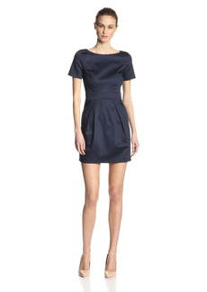 French Connection Women's Richie Short Sleeve Solid Sheath Dress