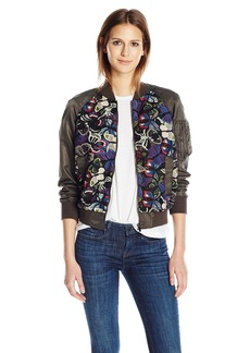 French Connection Women's Rivera Floral Bomber Jacket