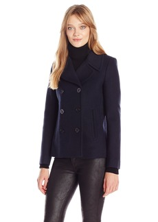 French Connection Women's Sailor Wool Peacoat