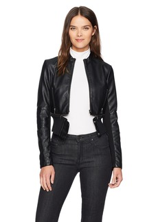 French Connection Women's Sandra Pu Leather Jacket