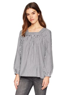 French Connection Women's Sardina Stripe Long Sleeve Flowy Blouse  L