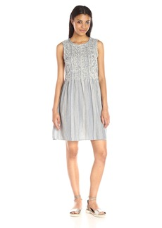 French Connection Women's Serge Stripe Shirring Dress