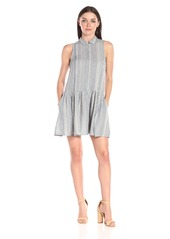 French Connection Women's Serge Stripe Sleeveless Shirt Dress
