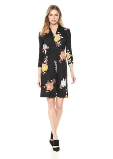 French Connection Women's Shikoku Jersey Floral Printed Long Sleeve Dress