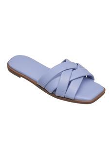 French Connection Women's Shore Flat Slip On Criss Cross Sandals Women's Shoes