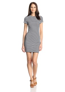 French Connection Women's Sienna Stripe Short-Sleeve Tee Dress