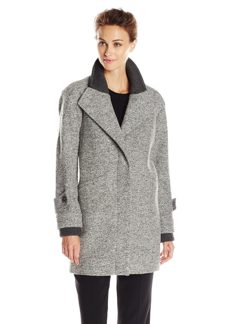 French Connection Women's Single-Breasted Wool-Blend Coat