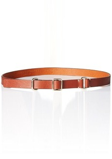 French Connection Women's Skinny Harness Waist Leather Belt