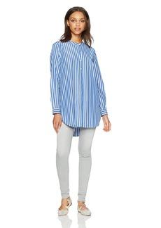 French Connection Women's Sophia Stripe Blouse Blue XS