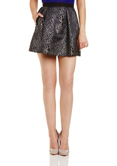 French Connection Women's Sparkle Ray Flared Skirt   US