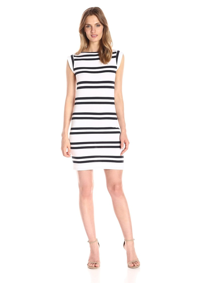 d49c1005b94 French Connection French Connection Women's Stripe Cap Sleeve Dress ...