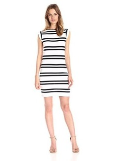 French Connection Women's Stripe Cap Sleeve Dress