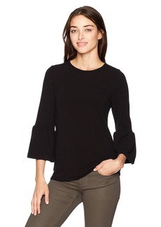 French Connection Women's Sudan Marl Bell Sleeve Top  L