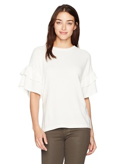 French Connection Women's Sudan Marl Ruffle Jumper  L
