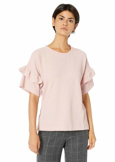 French Connection Women's Sudan Marl Ruffle Sweater  L