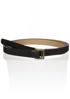 French Connection Women's Suede and Patent Leather Waist Belt