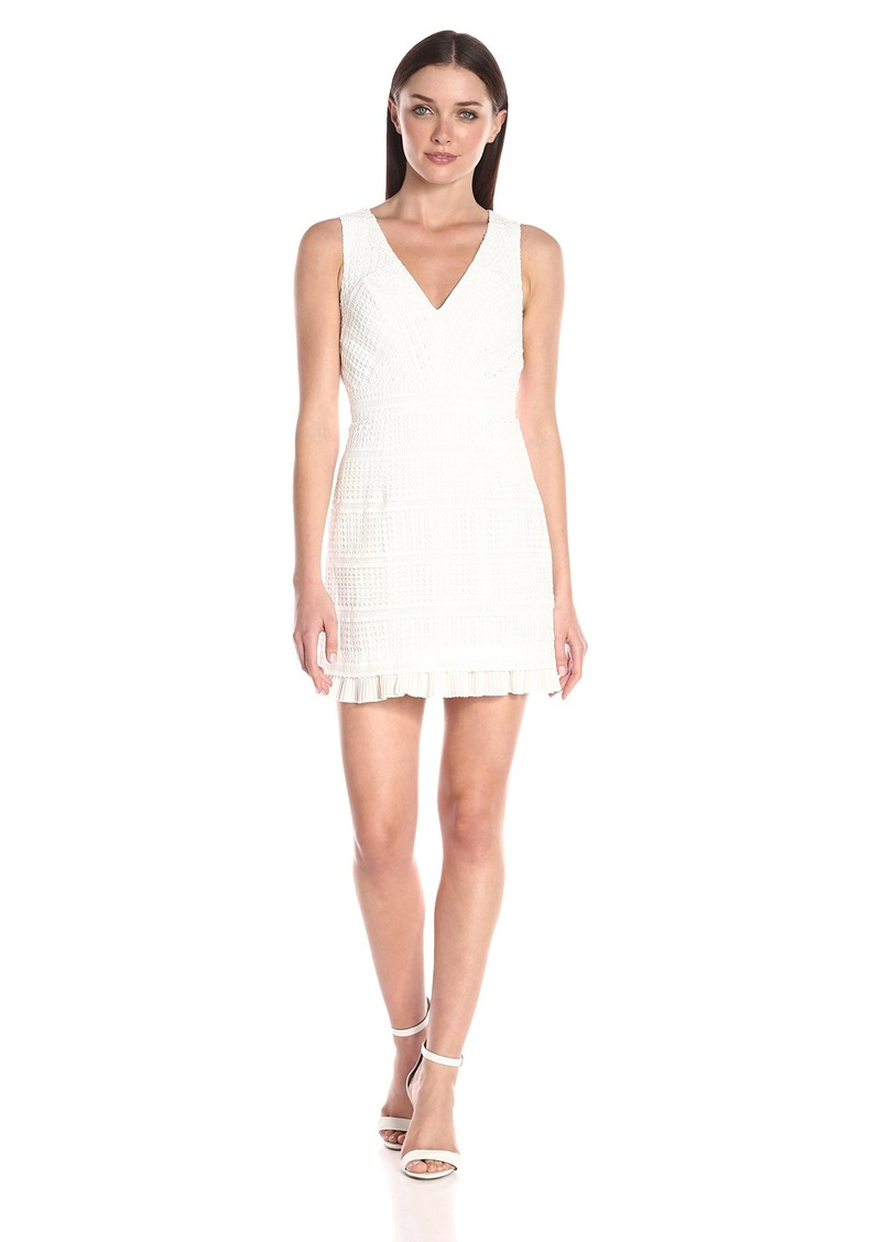 French Connection Women's Summer Cage Sleeveless Dress White