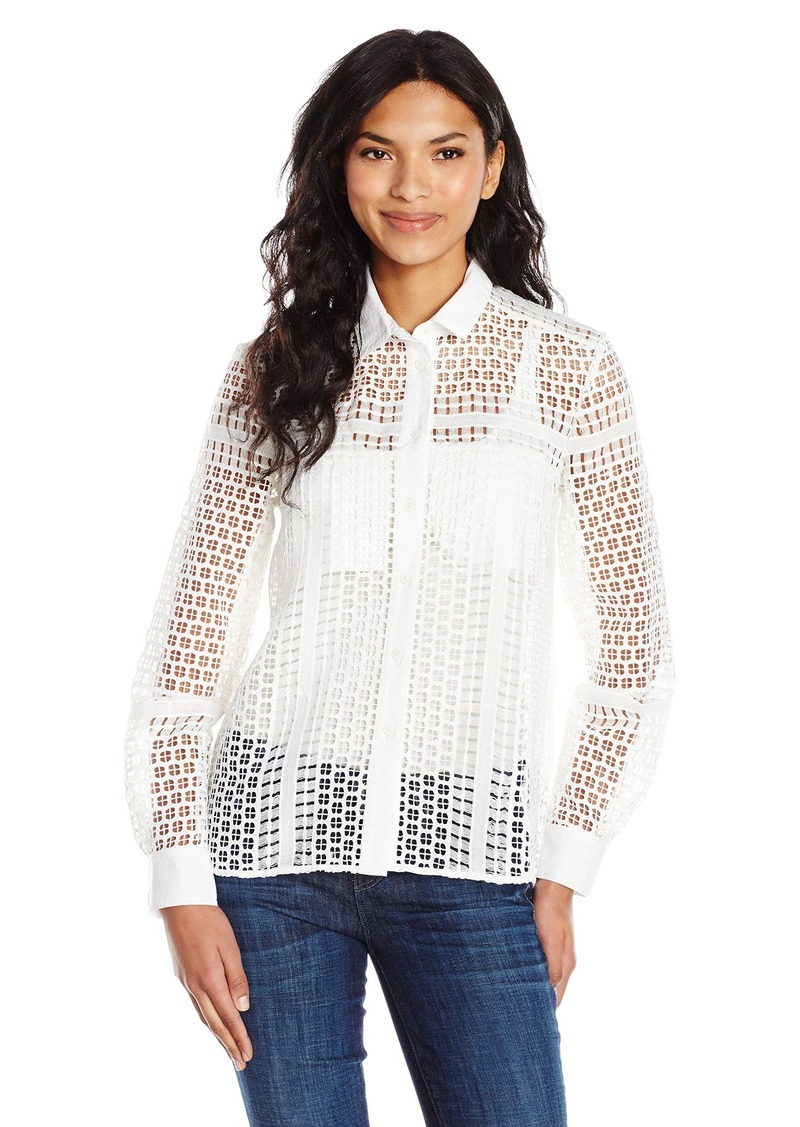 French Connection Women's Summer Cage Top White