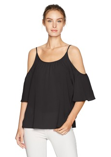 French Connection Women's Summer Crepe Light Cold Shoulder Top  S