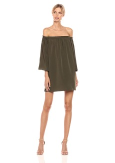 French Connection Women's Summer Crepe Light LS OTS Dress  L