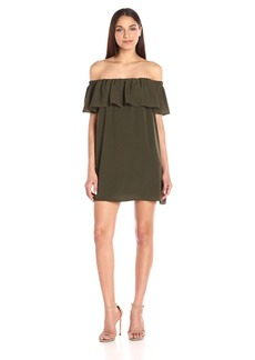 French Connection Women's Summer Crepe Light Off the Shoulder Dress  L