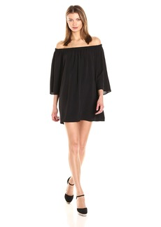 French Connection Women's Summer Crepe Light Off The Shoulder Dress  S