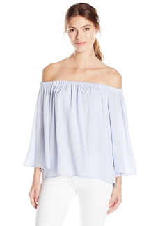 French Connection Women's Summer Crepe Light Off The Shoulder Top  L