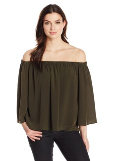 French Connection Women's Summer Crepe Light Off The Shoulder Top  S