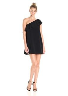 French Connection Women's Summer Crepe Light One Shoulder Dress  L