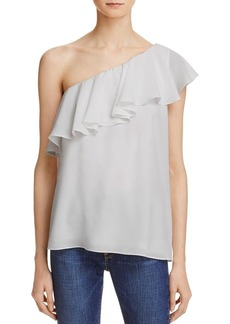 French Connection Women's Summer Crepe Light One Shoulder Top  L