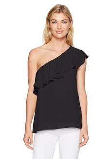 French Connection Women's Summer Crepe Light One Shoulder Top  M