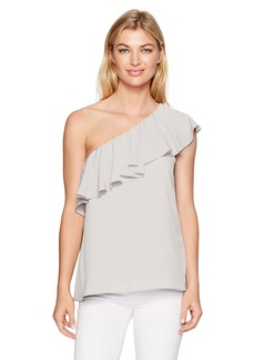 French Connection Women's Summer Crepe Light One Shoulder Top  XS