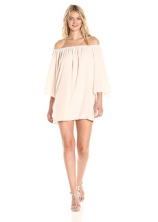 French Connection Women's Summer Crepe Light OTS Dress  M