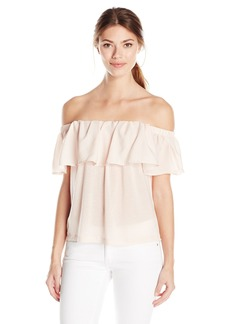 French Connection Women's Summer Crepe Light Ots Top  M