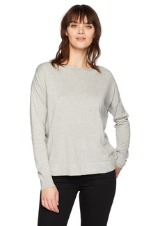French Connection Women's Summer Knits Open Back Long Sleeve Top  L