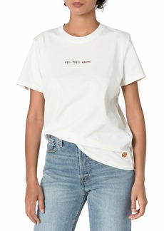 French Connection Women's Sunshine Embroidered t-Shirt  L