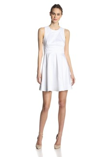 French Connection Women's Superchick Solid Fit and Flare Dress