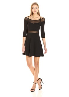 French Connection Women's Tatlin Beau Jersey Fit and Flare Dress