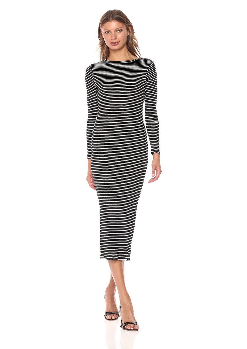 French Connection Women's Tim Rib Stripe Dress  L