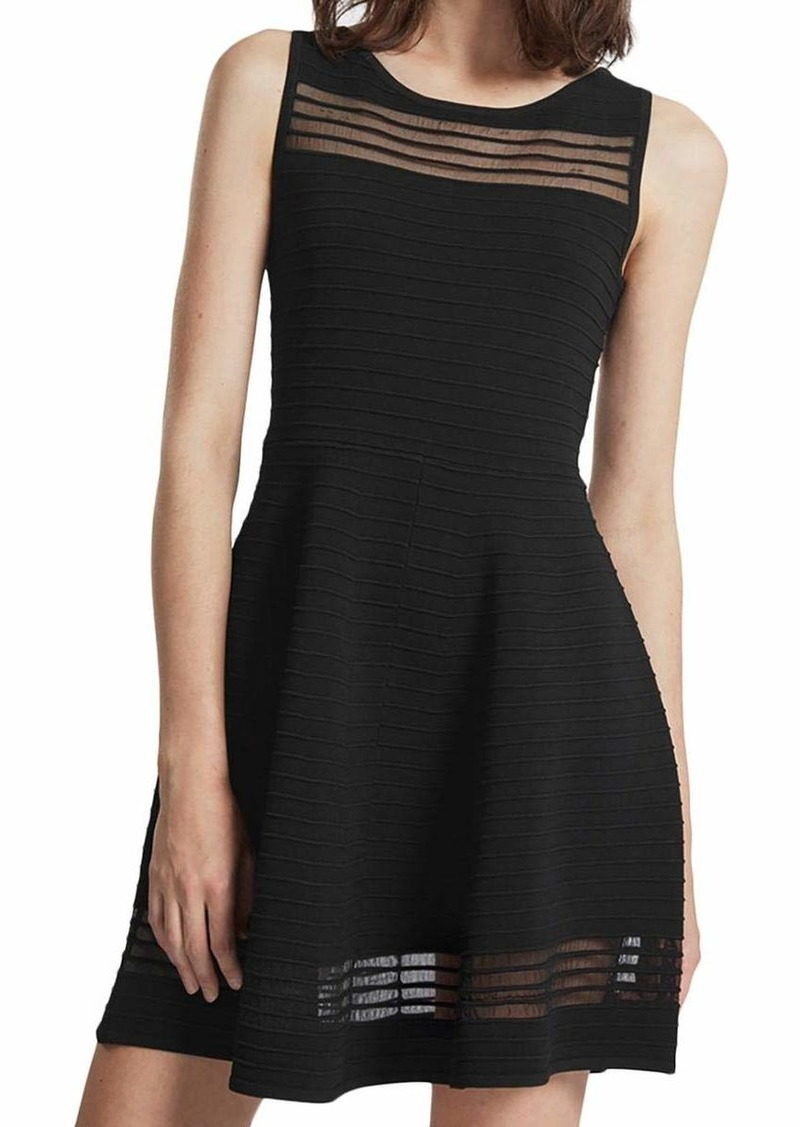 French Connection Women's Tobey Crepe Knits Dress Black