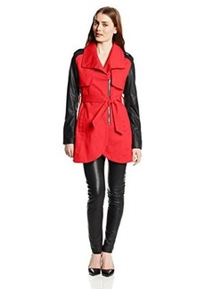 French Connection Women's Combo Tulip Trench Coat  arge