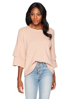 French Connection Women's Urban Flossy Ruffle Sleeve Sweater  L