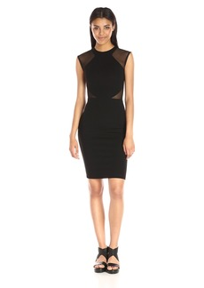 French Connection Women's Viven Bodycon Semi Sheer Stretch Dress