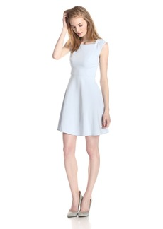 French Connection Women's Whisper Light Cap-Sleeve Fit-and-Flare Dress