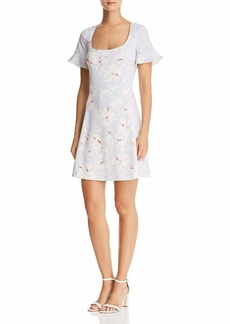 French Connection Women's Whisper Light Printed Dresses sea Breeze