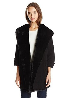 French Connection Women's Whistler Faux Fur Knits Cardigan