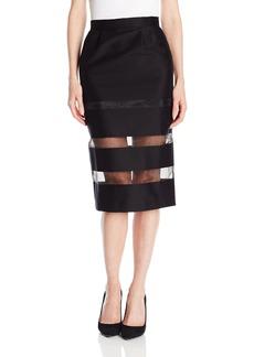 French Connection Women's Windjammer Sheer Inset Skirt